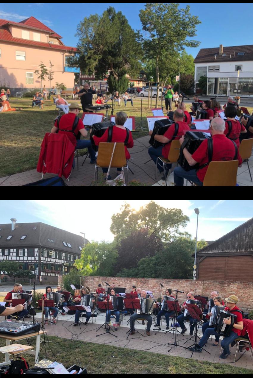 Musikalischer Open Air Sommerabend mit dem HOJ auf dem Albert-Schweitzer-Platz in Kork
