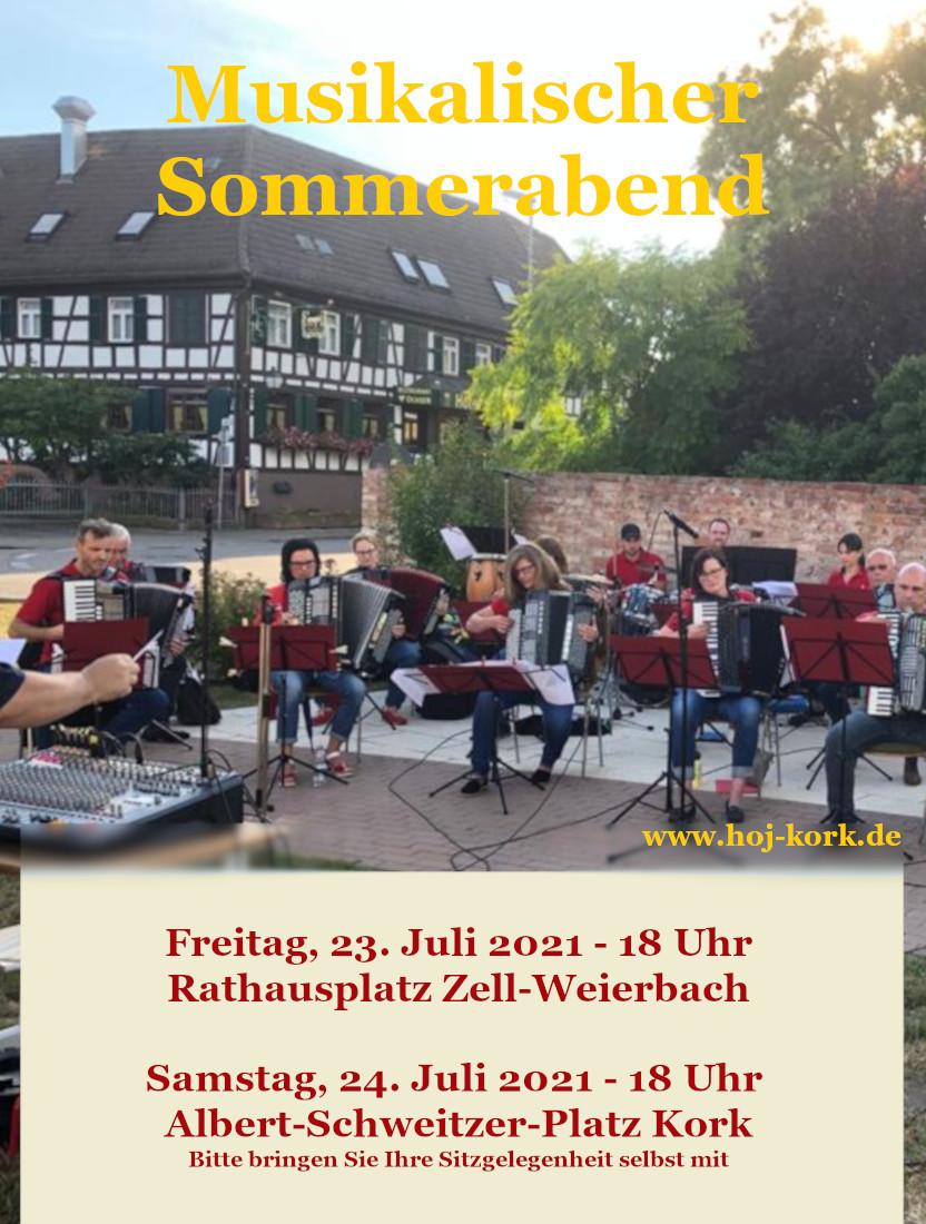 Musikalischer Sommerabend am 24. Juli